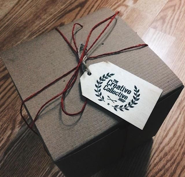 Tags are great for gifts and branding. This one is from http://creativecollectiveshop.com/