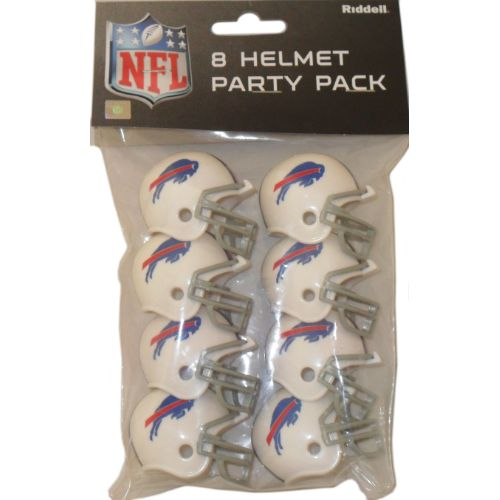 Buy some Buffalo Bills pocket sized plastic decorative football helmets cheap. This party pack of Riddell NFL Buffalo Bills helmets make the tailgating, birthday, or Super Bowl party a smash hit!