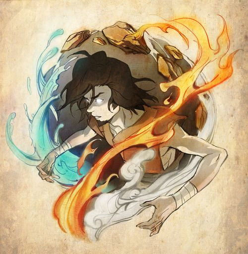 Wan, the very first Avatar, living 10,000 years prior to Korra's time.