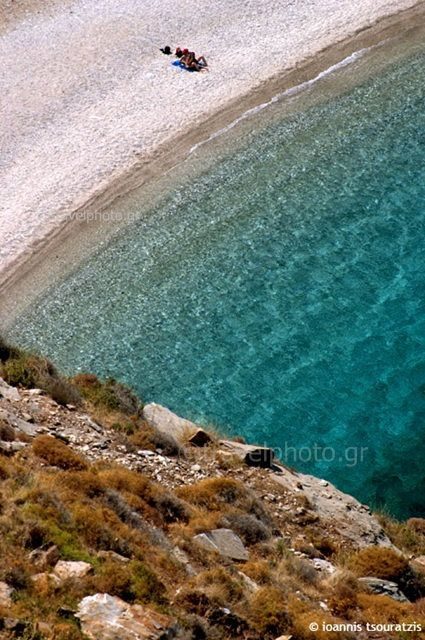 Agios Dimitrios village in the southern part of Evia and its beach, Shinodavli, on the Aegean side of Evoia island