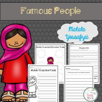 Malala Study for K-2 | Malala, Teaching, Differentiated ...