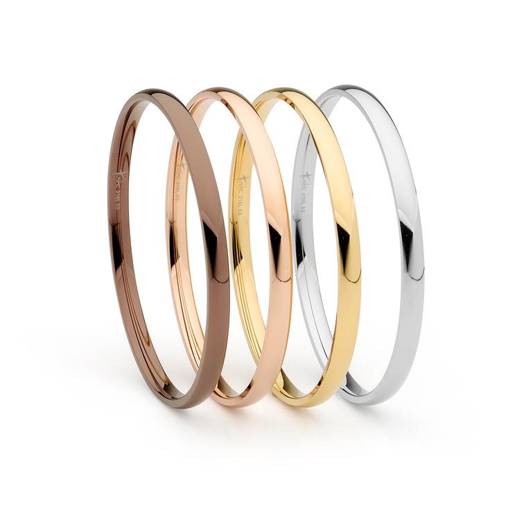 Mix and match these stylish stackable bangles. See more styles on our website.