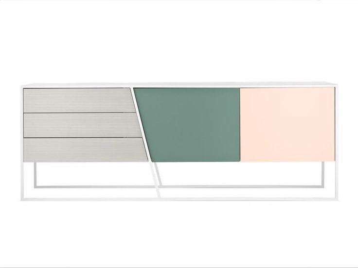 Clearcut Sideboard - oak-green-nude