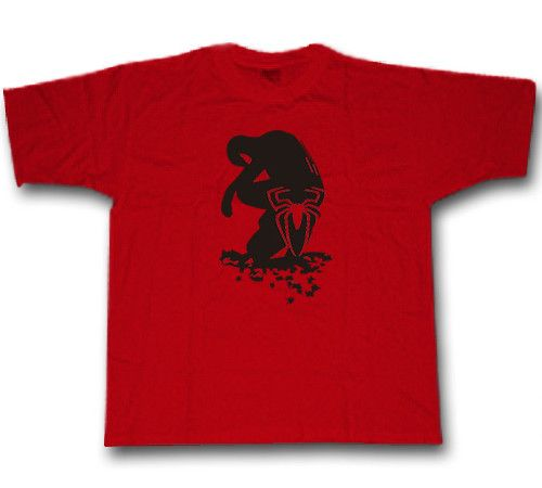 Camiseta estampada  con la silueta de tu héroe favorito
