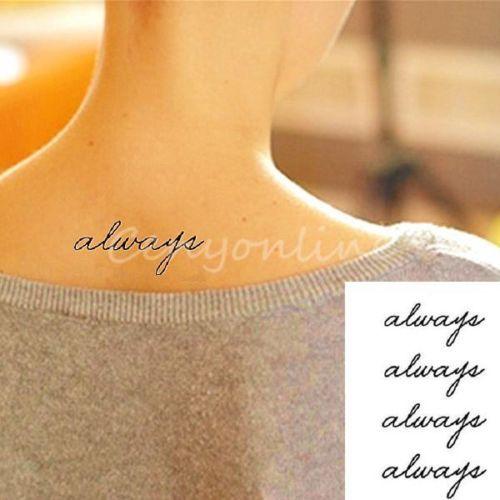 1-2-5-Always-Body-Art-Waterproof-Love-Tattoo-Temporary-Sticker-Decal-Paster-DIY