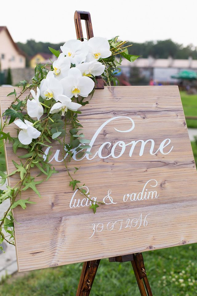 wedding decor, welcome sign