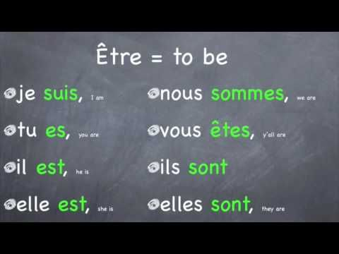 """Verb song for French """"To Be"""" Etre"""