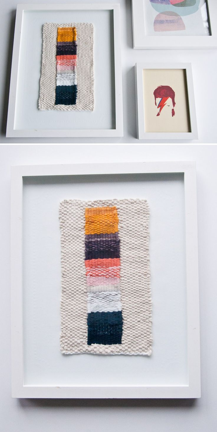 Free beginner's ombre stripe weave pattern & how to frame it when done