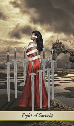 Card Meaning of Eight of Swords @ Lotus Tarot