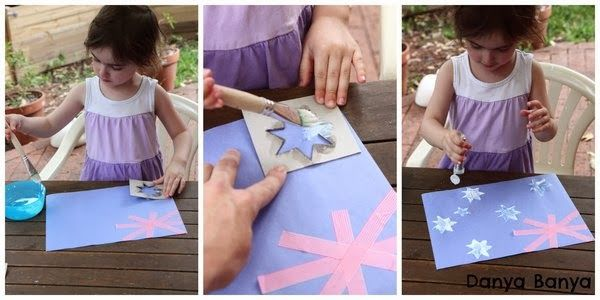 Preschool craft: Australian flag