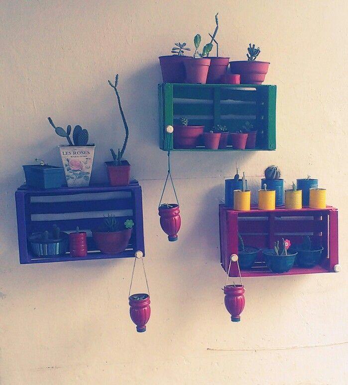 Cajon de verdura reciclado idea solfernandez macetas - Cajones de fruta de madera ...