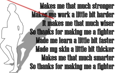 Thanks for Making Me a Fighter - Christina Aguilera