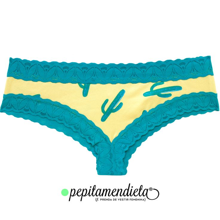 Cactus print Undies by Pepitamendieta. Instagram: PepitamendietaUnderwear