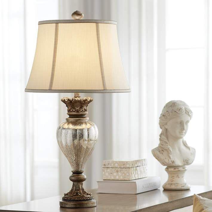 Montebello Antique Gold Mercury Glass Table Lamp 9t591 Lamps Plus Mercury Glass Table Lamp Traditional Table Lamps Glass Table Lamp