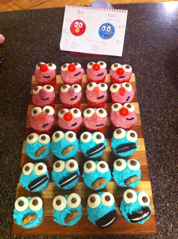 Jessica made these cupcakes for State of Origin