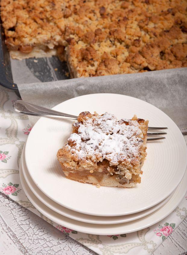 Appelkruimelkoek van het bakblik - Keuken♥Liefde