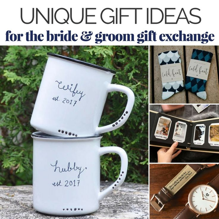 See our top gift ideas to give on the day of the wedding! | 23 Unique Presents for the Bride and Groom Gift Exchange | The Wedding Shoppe