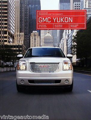 SUVs: 2012 Gmc Yukon Suv New Vehicle Brochure BUY IT NOW ONLY: $6.95