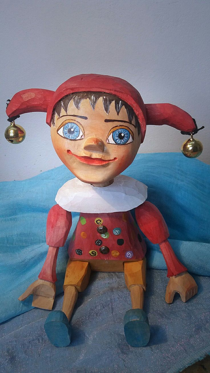 Jester woodcarving, puppet, marionette, was born 2018