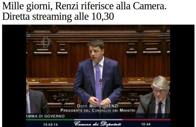 News: IL discorso alla Camera #Renzi continua a fare #Chiacchere