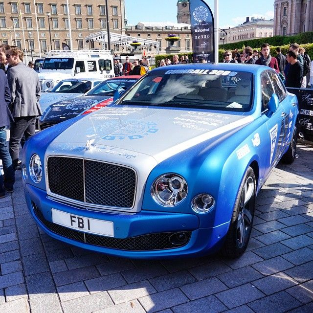 Satin Blue Bentley Mulsanne Looks Good! Gumball3000 Exotic