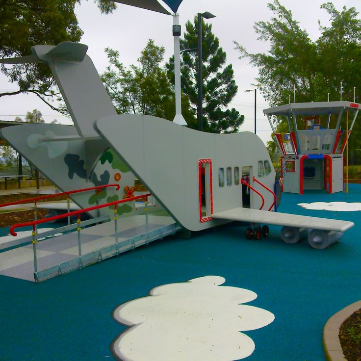 designing #AllAccess and #AllAbility Playspaces presents some unique challenges. How to integrate kids of all abilities in the same space and ensure they enjoy the space equally. We designed #LobleyPark based on a nearby #airport #commandtower #Pilot #plane #accessramps #Playground #CustomDesign #ImaginativePlay #goodforparentstoo