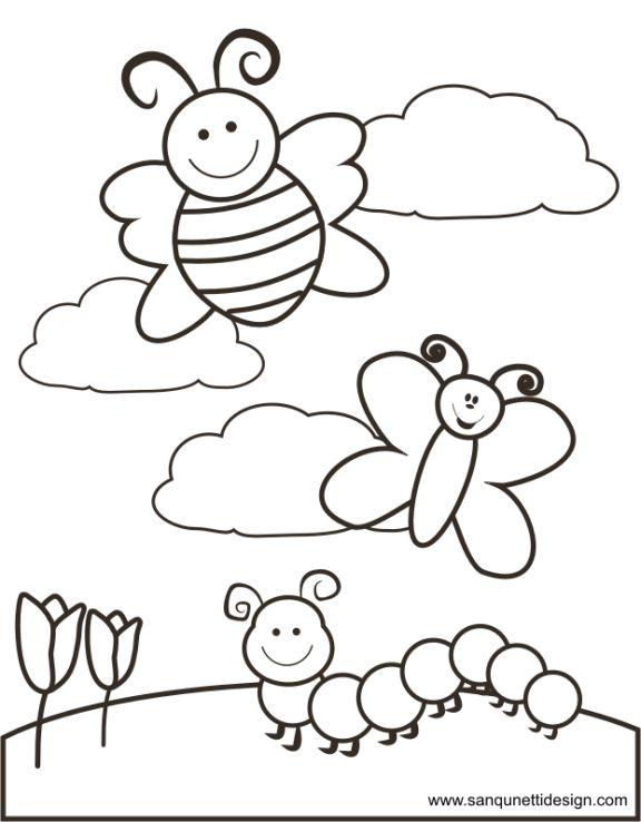 Springtime Coloring Page