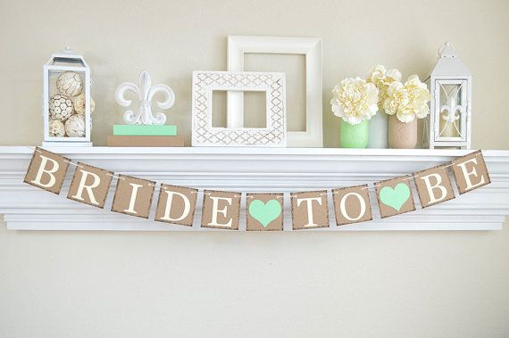 Bride To Be Banner Rustic Bridal Shower Bridal by ABannerAffair