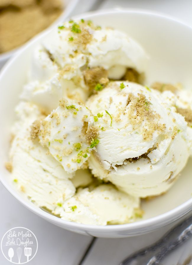 No Churn Key Lime Pie Ice Cream - Easy to make without an ice cream maker and the result is a creamy, zesty, refreshing lime ice cream that you will love!