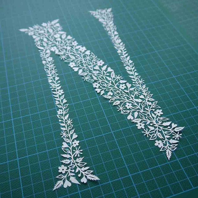 Letter N papercut by VegasLammy, via Flickr