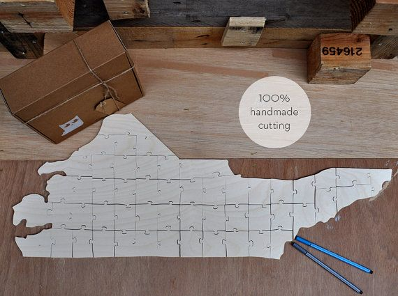 The shape of North Carolina for wedding guest book 100% handmade cutting. One other idea... print the first letter of your name and your wedding