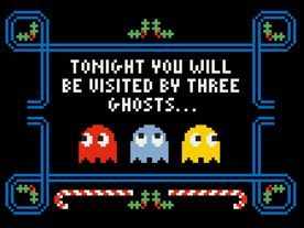 Tonight you will be visited by three ghosts... (Cross stitch design via Urban Cross Stitch.)