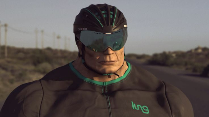Ion Göttlich = the chiseled jaw & stoic expression of a cyclist determined to crunch out the dawn to dusk training session - dedication & determination meet semi - reality  . Exceptional art work