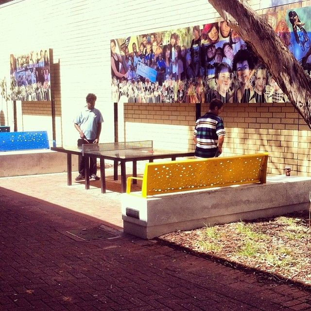Reactivating space - Judd Street Laneway now has a Table Tennis table, bats and balls as well as new seating and a mural depicting Salisbury Youth. #renew
