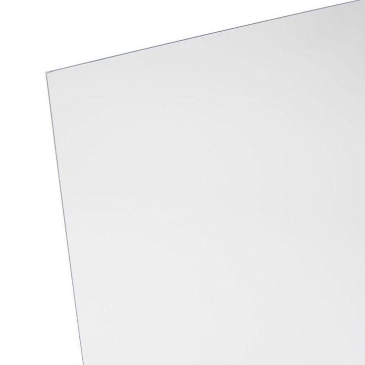 OPTIX 48 in. x 96 in. x 1/4 in. Clear Acrylic Sheet-MC-102 - The Home Depot