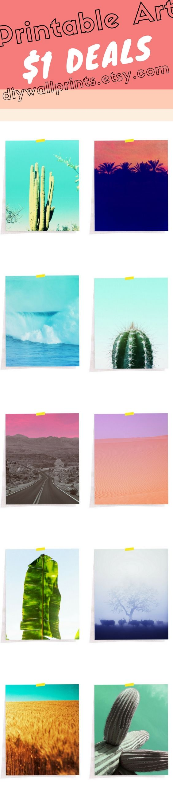 Download each of these pictures for only $0.99! See One Dollar Deals Section at diywallprints.etsy.com