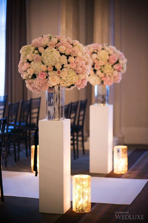 Wedding columns decor ideas