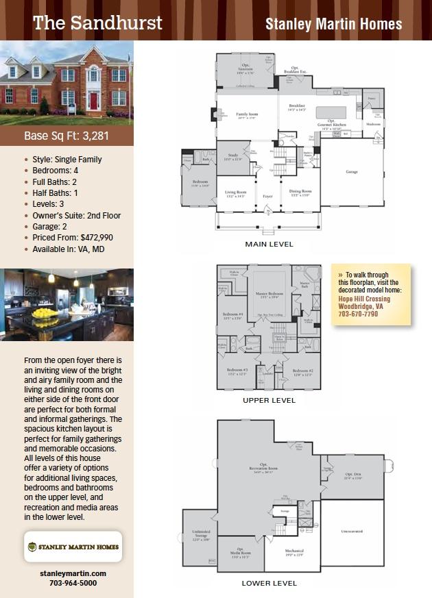 The Sandhurst, Stanley Martin Homes, New Homes Guide