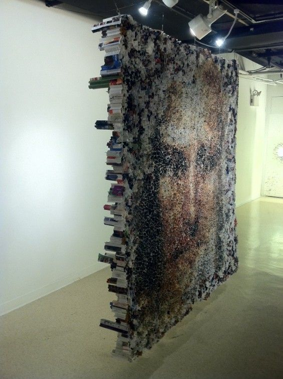 Yunwoo Choi's Large Sculptures Made of Rolled Magazines « Beautiful/Decay Artist & Design