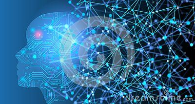Abstract Artificial intelligence.Technology web background. Virtual concept. world network  technology communication background.