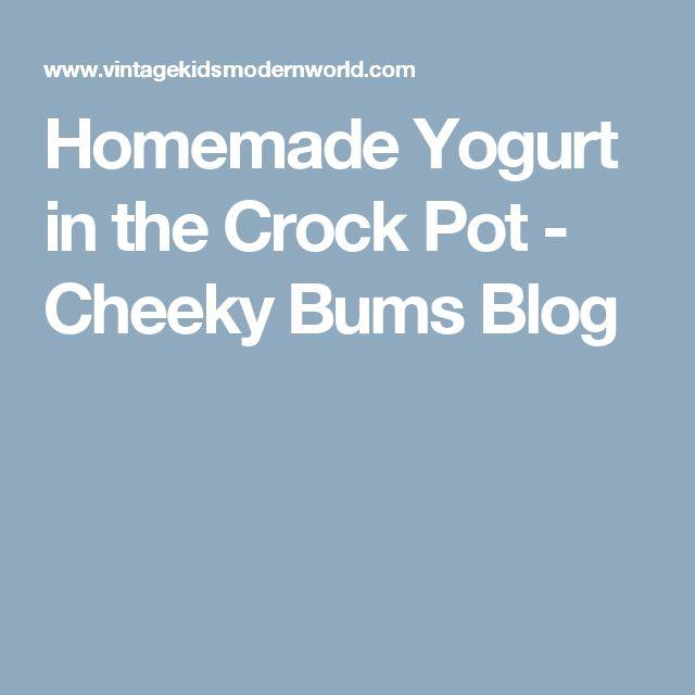 Homemade Yogurt in the Crock Pot - Cheeky Bums Blog