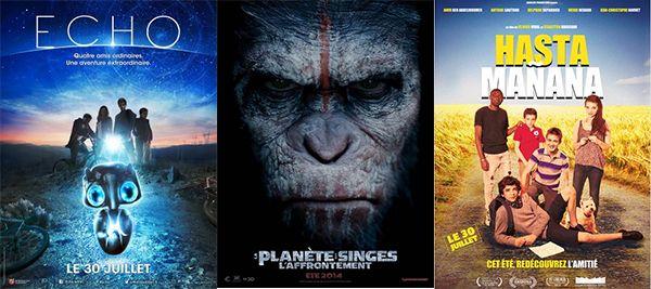 Echo  ; La Planète des singes : l'affrontement; Hasta Mañana - Mercredi 30 juillet 2014, sorties cinéma sur Enfant.net, nouveaux films sortis cette semaine...