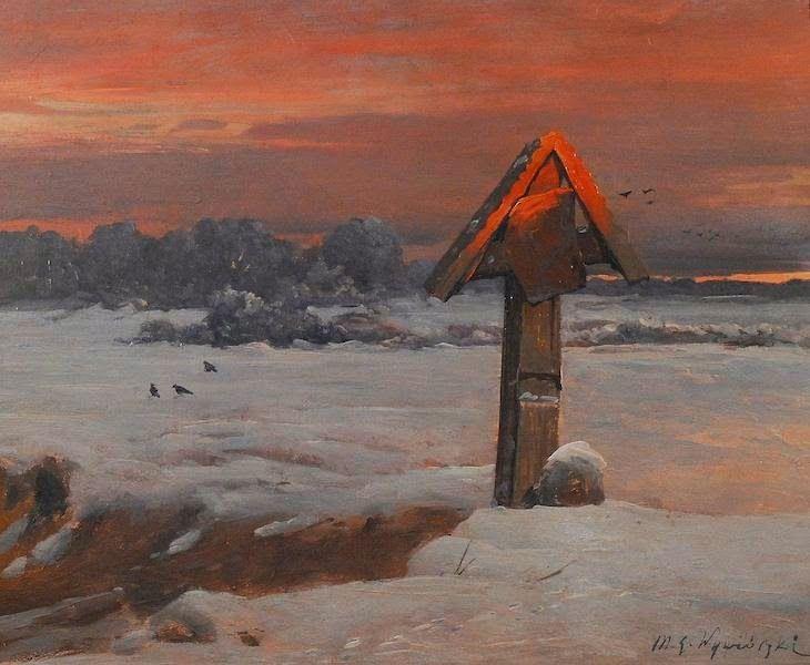 Le Prince Lointain: Michal Wywiorski (1861-1926), Pejzaż zimowy z przy...