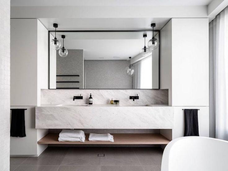 la plus moderne salle de bain en marbre blanc modeles salles ...