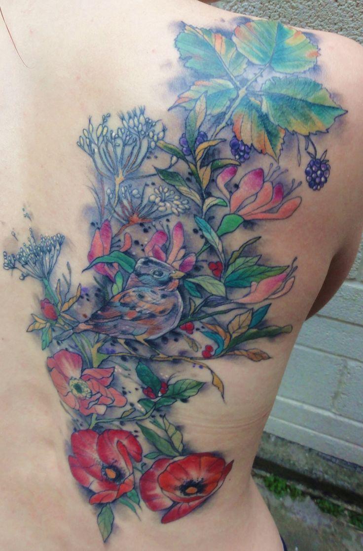 Hummingbird And Honeysuckle Tattoo My tattoo by miss jo black at