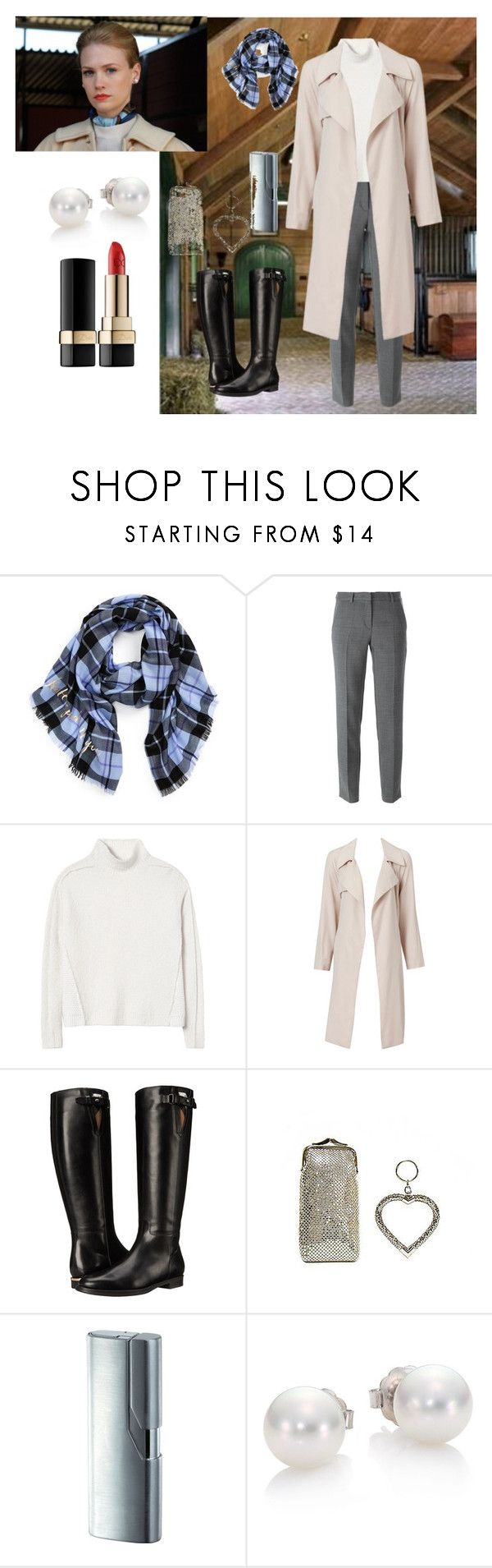 """""""Betty Draper, Equestrian.  Kudos to Janie Bryant for all her outfits."""" by dana-debanks ❤ liked on Polyvore featuring Kate Spade, DKNY, Rebecca Taylor, Burberry, Whiting & Davis, Mikimoto, Dolce&Gabbana, women's clothing, women and female"""