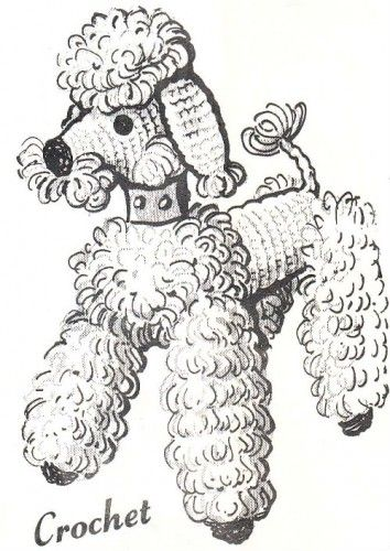 Peppy the Poodle Dog Toy Vintage Crochet Pattern Copy