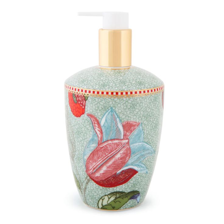 Dispenser sapone in fine porcellana decorata della collezione SPRING TO LIFE di Pip Studio.