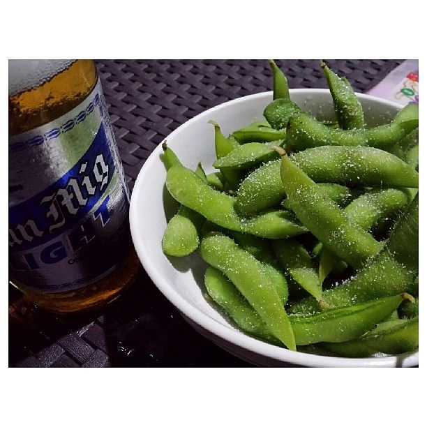 #sanmig #light #beer amd #edamame #yummy #drink #food #philippines #サンミゲル #ライト #ビール #枝豆 #フィリピン