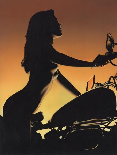 """Choose Your Fantasy"" - David Mann - Motorcycle Art | Fine Art World"